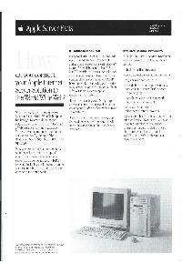 Apple Computer Inc. (Apple) - Server Facts April 1995