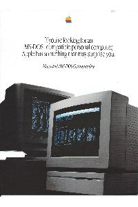 Apple Computer Inc. (Apple) - If you are looking for an MS-DOS compatible personal computer