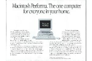 Apple Computer Inc. (Apple) - Macintosh Performa. The one computer for everyone in your home.