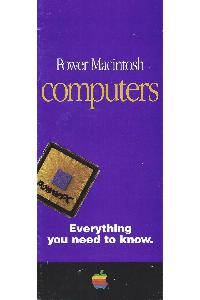 Apple Computer Inc. (Apple) - Apple Power Macintosh Computers