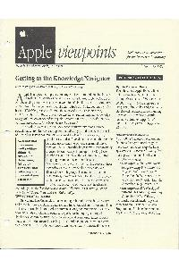 Apple Computer Inc. - Apple Viewponts August 15, 1988