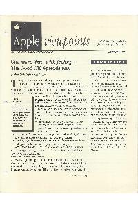 Apple Computer Inc. - Apple Viewponts November 21, 1988