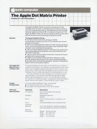Apple Computer Inc. (Apple) - Apple Dot Matrix Printer