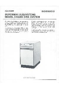 Calcomp (California Computer Products) Inc. - Supermini Subsystems Model DSG300 Disk System