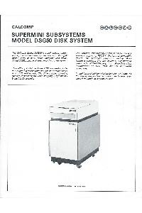 Calcomp (California Computer Products) Inc. - Supermini Subsystems Model DSG50 Disk System