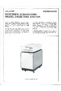 Calcomp (California Computer Products) Inc. - Supermini Subsystems Model DSG80 Disk System