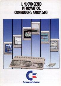 Commodore Business Machines - Il nuovo genio informatico. Commodore Amiga 500.