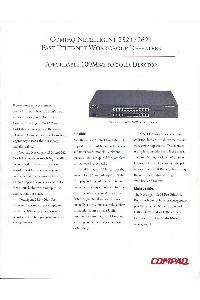 Compaq - Compaq Netelligent 2524/2624 Fast Ethernet Workgroup Repeaters