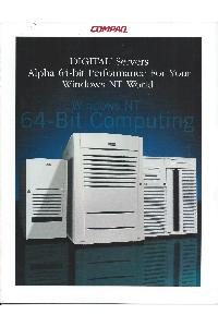 Compaq - Digital Servers Alpha 64-bit performance for your Windows NT world