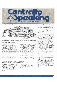 Cray Inc. - Centrally speaking April 1985