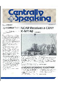 Cray Inc. - Centrally speaking December 1986