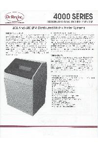 DeRex Inc - 4000 Series Line Printer