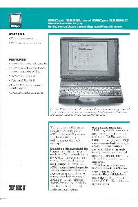 Digital Equipment Corp. (DEC) - DECpc 325SL and DECpc 325SLC Notebook PCs