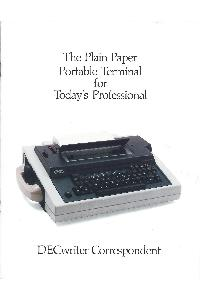 Digital Equipment Corp. (DEC) - The plain paper portable terminal for today's professional