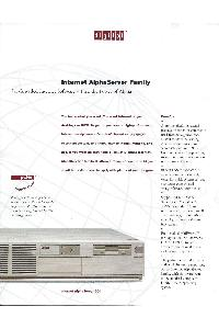 Digital Equipment Corp. (DEC) - Internet AlphaServer Family