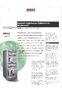 Digital Equipment Corp. (DEC) - Intranet AlphaServer platoforms for Windows NT