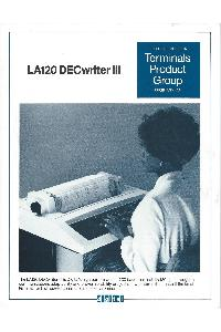 Digital Equipment Corp. (DEC) - LA120 DECwriter III