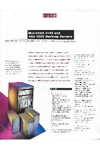 Digital Equipment Corp. (DEC) - MicroVAX 3100 and VAX 4000 Desktop Servers