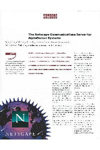 Digital Equipment Corp. (DEC) - The Netscape Communications Server For Alphaserver Systems