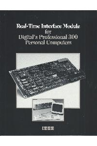 Digital Equipment Corp. (DEC) - Real-Time interface module for Digital's Professional 300 Personal Computers