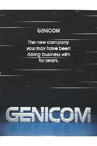 Genicom Corp. - the new company you may have been doing business with for years