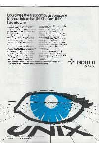Gould Inc. - Gould was the first computer company to see a future for Unix before Unix had a future