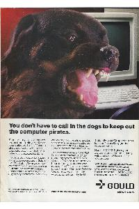 Gould Inc. - You don't have to call in the dogs to keep uot the computer pirates