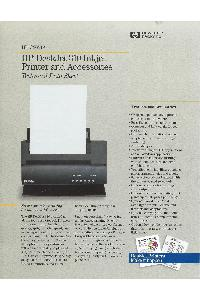 Hewlett-Packard - HP DeskJet310 Inkjet Printer and Accessories Technical Data
