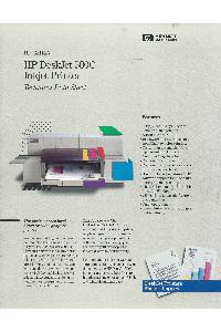 Hewlett-Packard - HP DeskJet500 Inkjet Printer - Techical Data Sheet