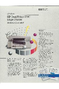 Hewlett-Packard - HP DeskWriter 550C Inkjet Printer - Technical Data