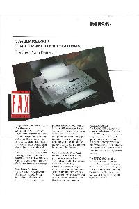 Hewlett-Packard - The HP FAX-900