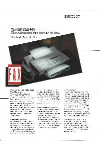 Hewlett-Packard - The HP FAX-950