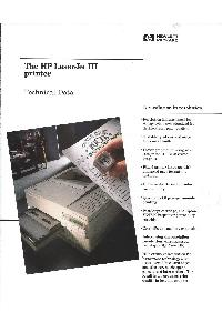 Hewlett-Packard - The HP LaserJet III - Technical Data