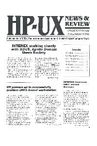 Hewlett-Packard - HP-UX News & Review - Interexpo - November 1989