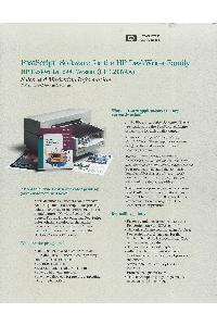 Hewlett-Packard - PostScript Software For The HP DeskWriter Family