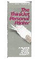 Hewlett-Packard - The thinkjet personal printer