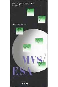 IBM (International Business Machines) - MVS/ESA Programs and Products Reference guide