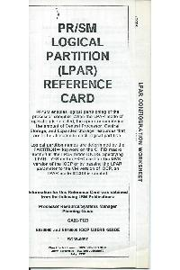 IBM (International Business Machines) - PR/SM Logical Partition (LPAR) reference card