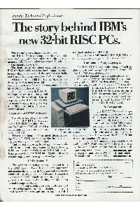 IBM (International Business Machines) - The story behind IBM's new 32-bit RISC PCs