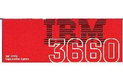 IBM (International Business Machines) - IBM 3660 Supermarket System