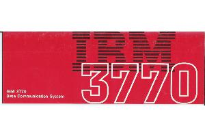 IBM (International Business Machines) - IBM 3770 Data Communication System