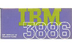 IBM (International Business Machines) - IBM 3886 Optical Character Reader