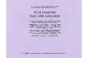 Levco Enterprises - Levco OverDrive SCS Controller had Disk Subsystem