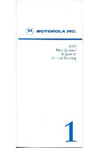 Motorola - 1989 First Quarter Report & Annual meeting
