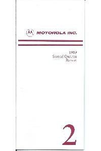Motorola - 1989 Second Quarter Report