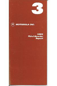 Motorola - 1990 Third Quarter Report