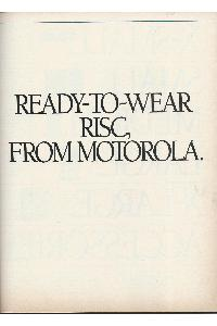 Motorola - Ready-to-wear RISC, from Motorola