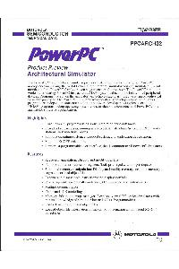 Motorola - PowerPC - Product Preview - Architectural Simulator