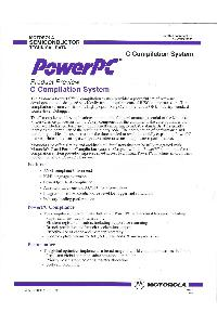 Motorola - PowerPC - Product Preview - C Compilation System