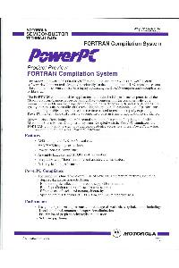 Motorola - PowerPC Product Preview - Fortran compilation system